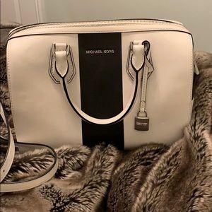 Michael Kors leather black/white satchel, EUC
